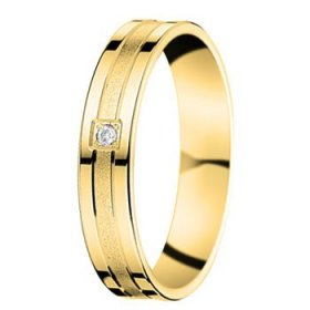 Alliance homme Diamant - 4,0