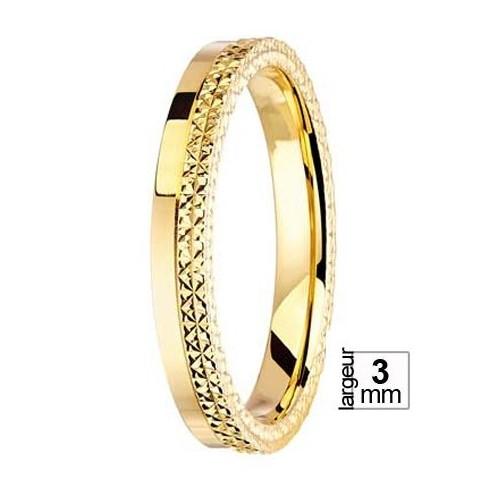 Alliance de mariage Or jaune 750 - 04036113J - Boutique Alliance