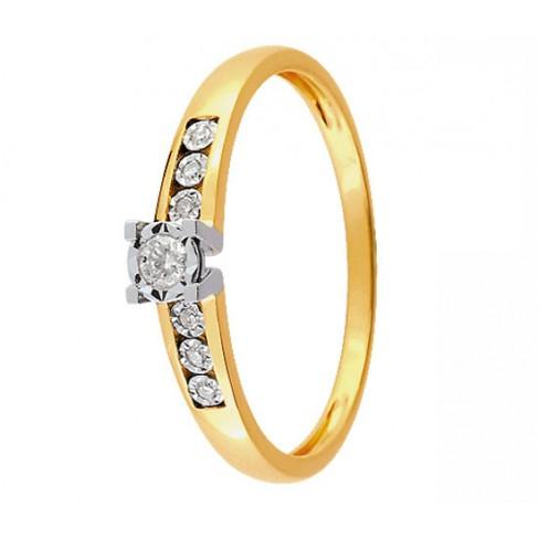 bague solitaire diamant 2 ors