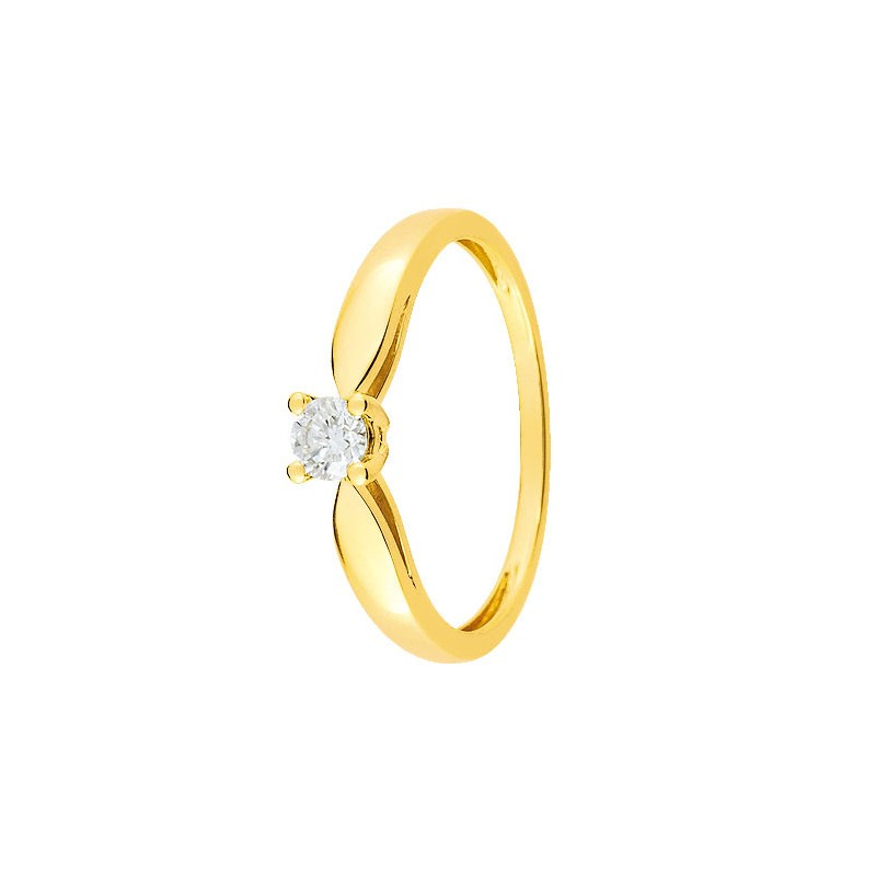 grossiste a02e9 f6686 Bague solitaire Diamant Or jaune 750