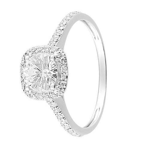 bague solitaire or blanc diamant pas cher