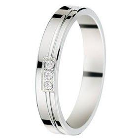 Alliance femme Or blanc diamant - 0,05 ct