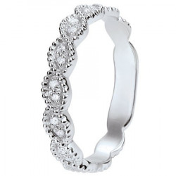 Alliance de mariage Or blanc 750 Diamant - 11775081G - Boutique Alliance