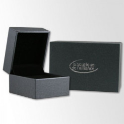 Alliance Breuning en argent et diamant  - 13774157A