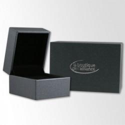 Alliance Diamant ruban Or blanc et Palladium avec liseret - Boutique Alliance