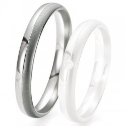 Alliance de mariage Breuning - Or gris 3.5mm - 1303417835G