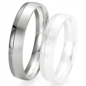 Alliance de mariage Breuning - Or gris 4.5mm - 1303418045G