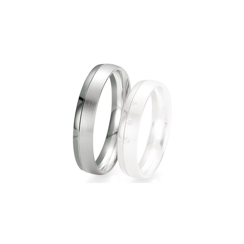 Alliance de mariage Breuning - Or gris 4.5mm - 1303418045G