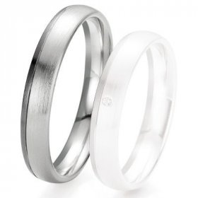 Alliance de mariage Breuning - Or gris 4.0mm - 1303418240G