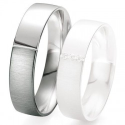 Alliance de mariage Breuning - Or gris 5.5 mm - 1303418455G