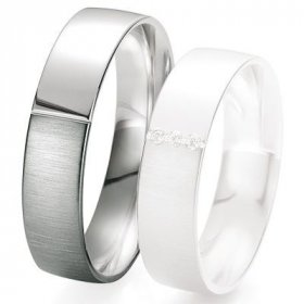 Alliances Breuning - Alliance de mariage Breuning - Or gris 5.5 mm - 1303418455G