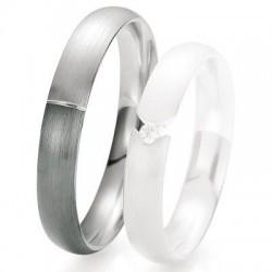 Alliance de mariage Breuning - Or gris 4.0 mm - 1303418640G