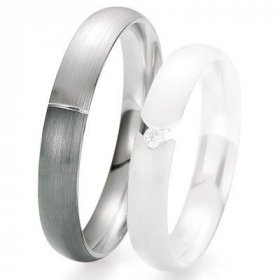 Alliance de mariage Breuning - Or gris 4.0 mm - 1303418640G