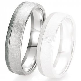 Alliances Breuning - Alliance de mariage Breuning - Or gris 5.5 mm - 1303418855G