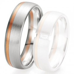 Alliance de mariage Breuning - 2 ors OG/OR 6.0mm - 1303419060B