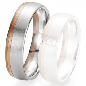 Alliance 3 Ors - Alliance de mariage Breuning - 2 ors OG/OR 6.0mm - 1303419060B