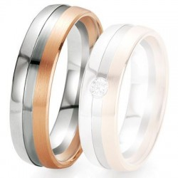 Alliance de mariage Breuning - 2 ors OG/OR 6.0 mm - 1303419260B
