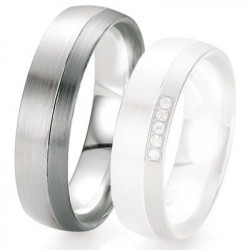 Alliance de mariage Breuning - Or gris 6.0 mm - 1303419460G