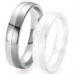 Alliance de mariage Breuning - Or gris 5.0 mm - 1303419650G