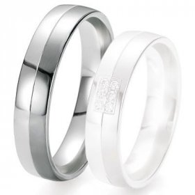 Alliance de mariage Breuning - Or gris 5.0 mm - 1303419650G