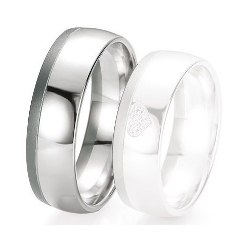 Alliance de mariage Breuning - Or gris 7.0 mm - 1303419870G