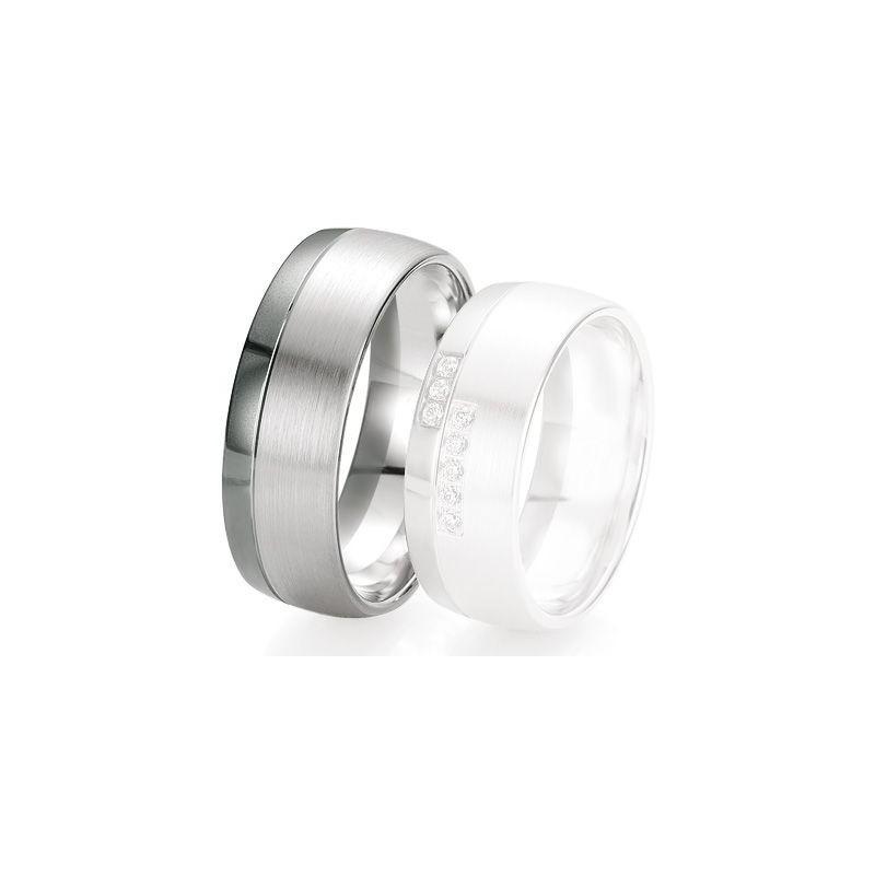 Alliance de mariage Breuning - Or gris 8.0 mm - 1303420080G