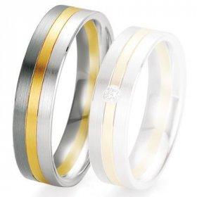 Alliance de mariage Breuning - 2 ors OG/OJ 5.5 mm - 1303420255B