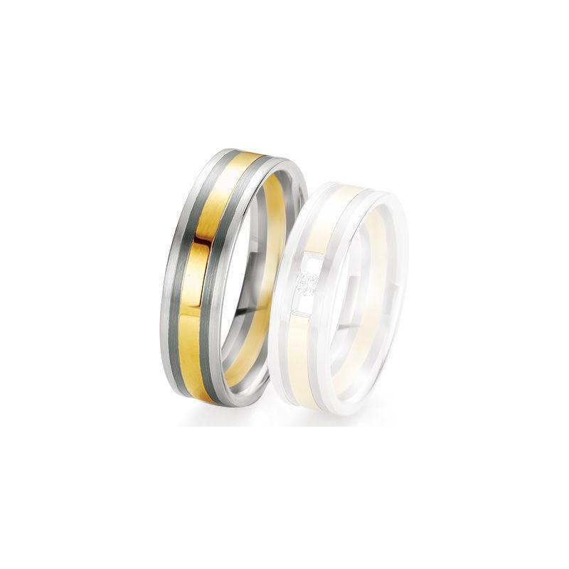Alliance de mariage Breuning - 2 ors OG/OJ 6.0 mm - 1303420460B
