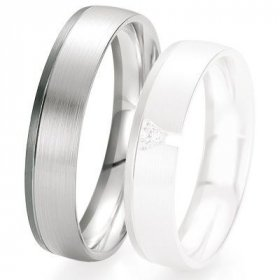 Alliance de mariage Breuning - Or gris 5.0 mm - 1303420650G