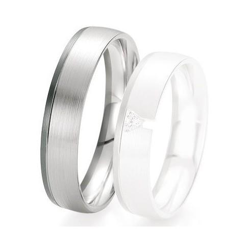 Alliance de mariage Breuning - Or gris 5.0 mm - 1303420650G