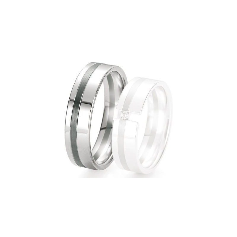 Alliance de mariage Breuning - Or gris 6.0 mm - 1303420860G