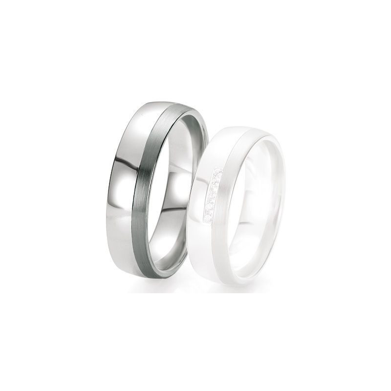 Alliance de mariage Breuning - Or gris 6.0 mm - 1303421060G