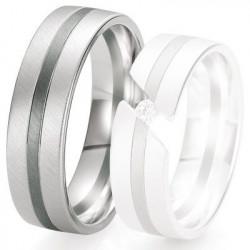 Alliance de mariage Breuning - Or gris 6.5 mm - 1303421265G