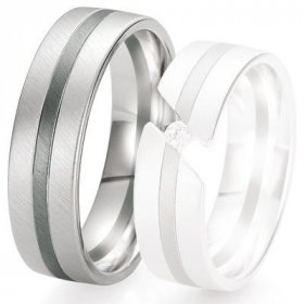 Alliance de mariage Breuning - Or gris 6.5 mm - 1303421265G