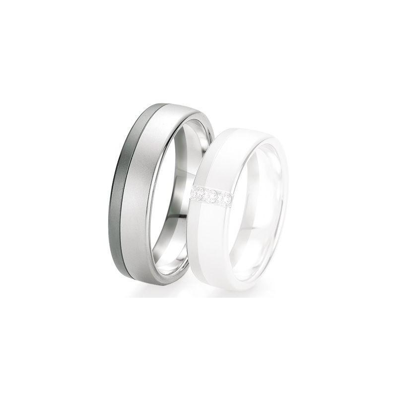 Alliance de mariage Breuning - Or gris 6.0mm - 1303421460G