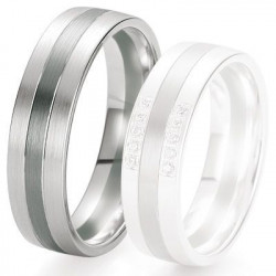 Alliance de mariage Breuning - Or gris 6.0 mm - 1303421660G