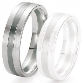 Alliances Breuning - Alliance de mariage Breuning - Or gris 6.0 mm - 1303421660G