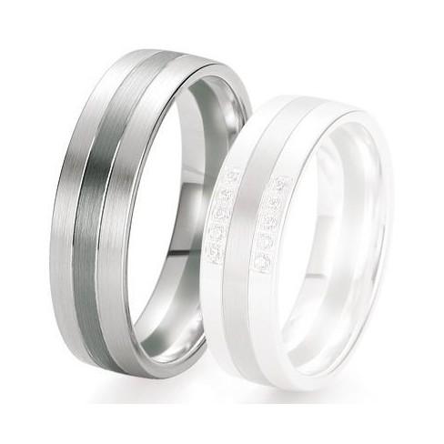 Alliance de mariage Breuning - Or gris 6.0 mm - 1303421660G