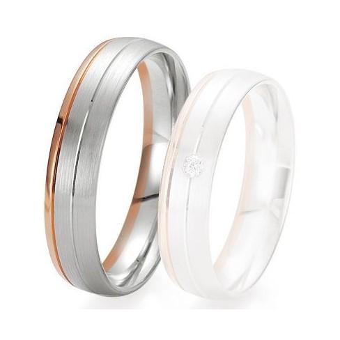 Alliance de mariage Breuning - 2 ors OG/OR 5.0 mm - 1303422050B