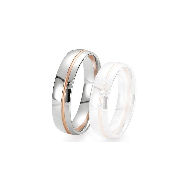 Alliance de mariage Breuning - 2 ors OG/OR 5.5 mm - 1303422455B