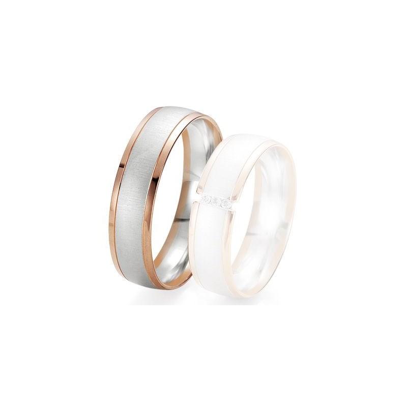 Alliance de mariage Breuning - 2 ors OG/OR 6.0 mm - 1303422860B