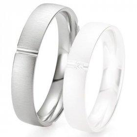 Alliances Breuning - Alliance de mariage Breuning - Or gris 4.5 mm - 1303423245G