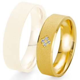 Alliance de mariage Breuning - Or jaune 6.0mm + diamant - 1377423360J