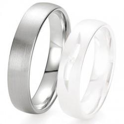 Alliance de mariage Breuning - Or gris 5.0 mm - 1303423650G