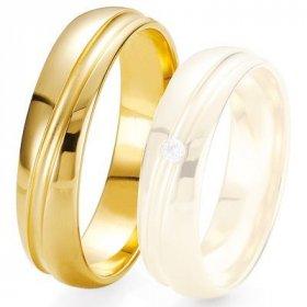 Alliance de mariage Breuning - Or jaune 5.5 mm - 1303423855J