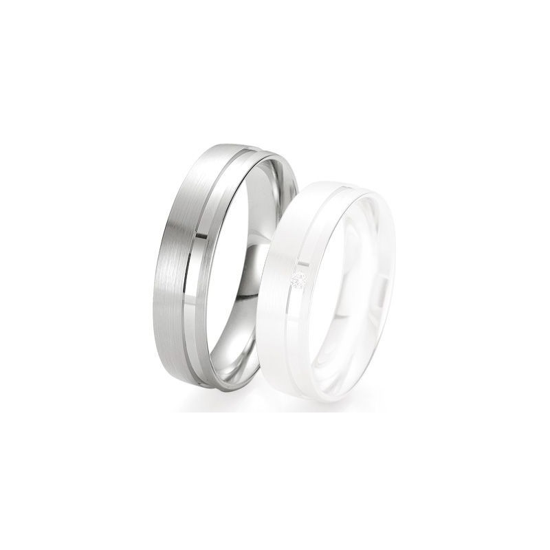 Alliance de mariage Breuning - Or gris 5.5 mm - 1303424055G