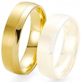 Alliances Breuning - Alliance de mariage Breuning - Or jaune 6.0 mm - 1303424260J