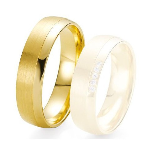 Alliance de mariage Breuning - Or jaune 6.0 mm - 1303424260J