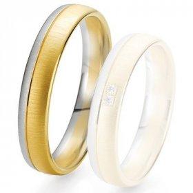 Alliances Breuning - Alliance de mariage Breuning - 2 ors OG/OJ 5.0 mm - 1303424645B