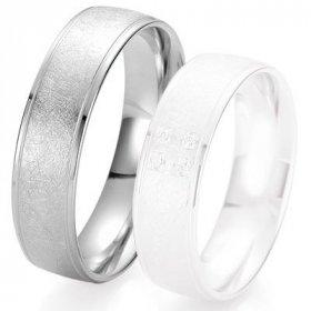 Alliances Breuning - Alliance de mariage Breuning - Or gris 6.0 mm - 1303424460G